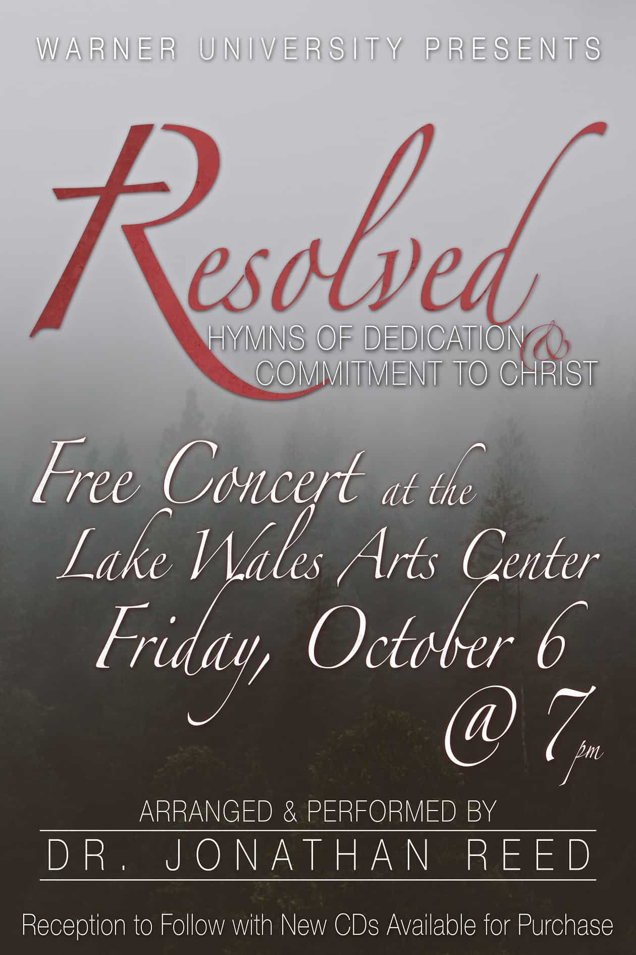 Dr. Reed's Piano Concert – Oct. 6th