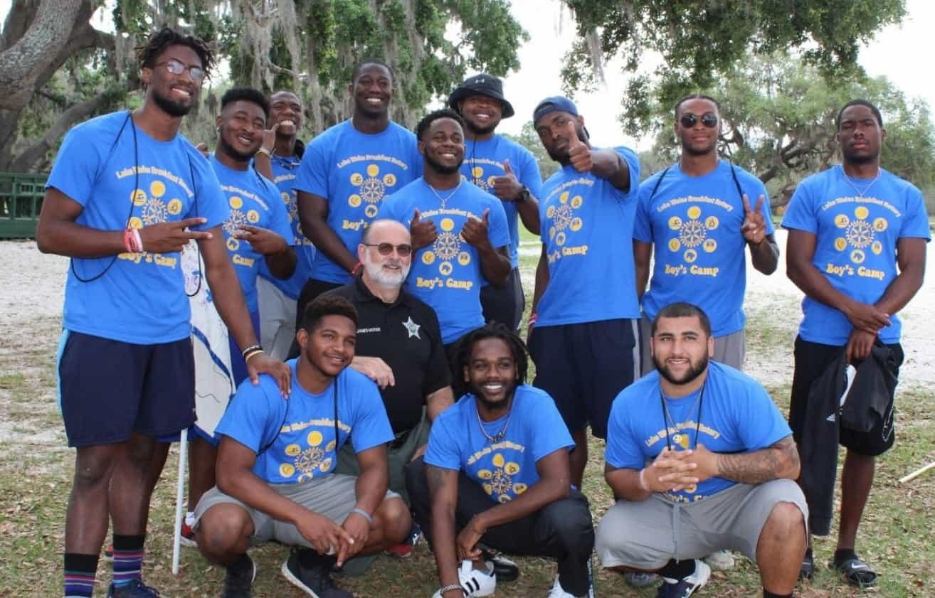 WU Men Volunteer at Rotary Boys Camp