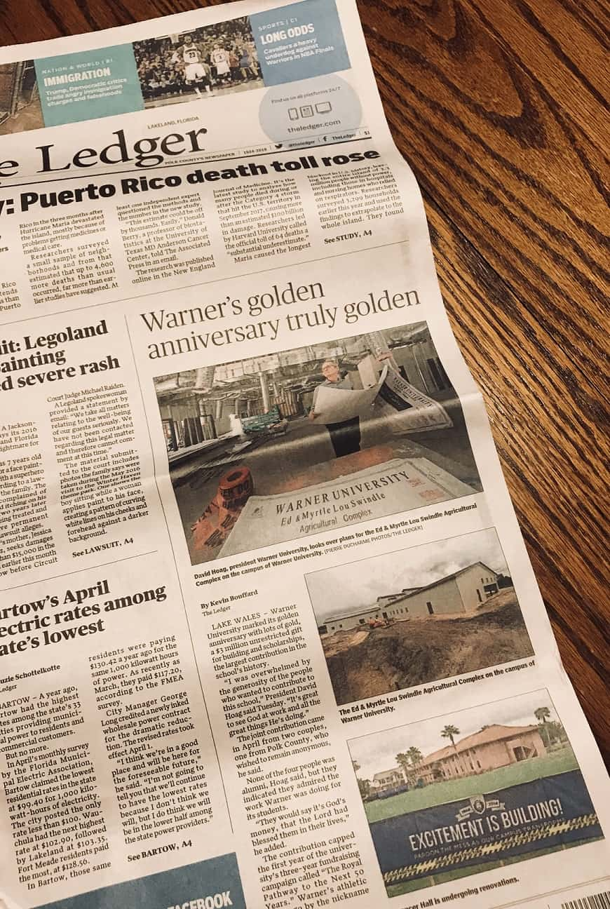 The Ledger Covers Story: All of the Great Things Happening at WU!