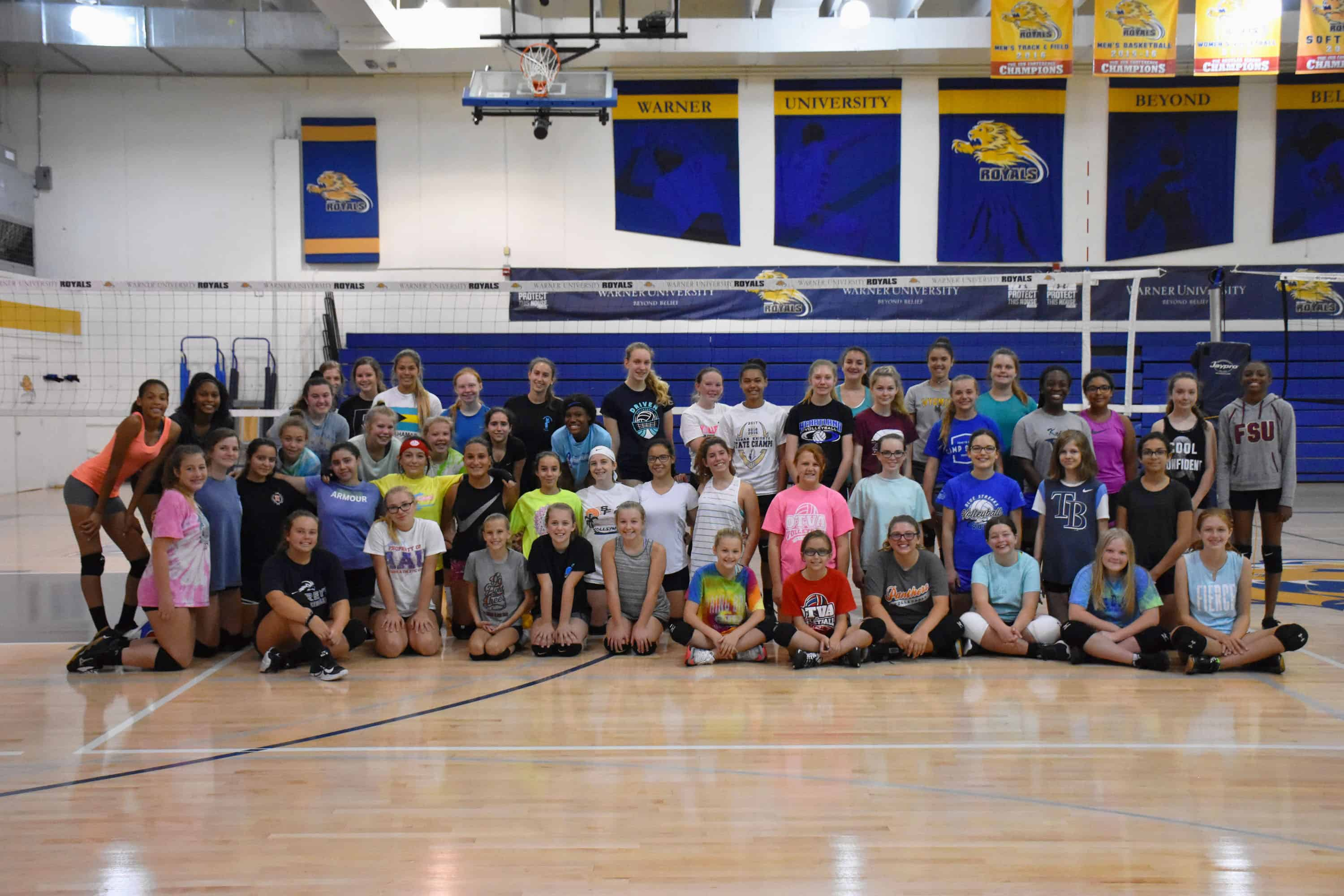 Warner Hosts Nike Volleyball Camp