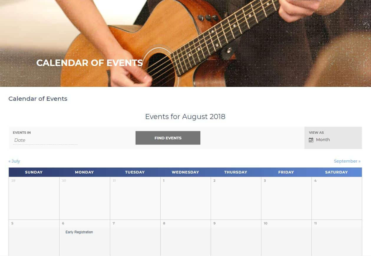 Warner University Events Calendar