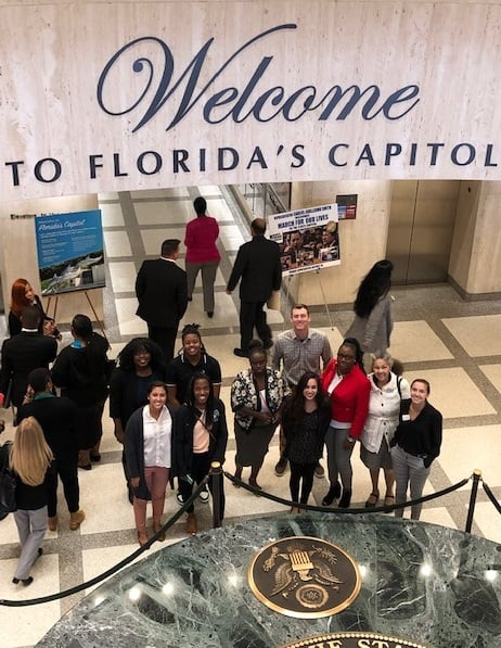 WU Social Work Students Travel to Tallahassee