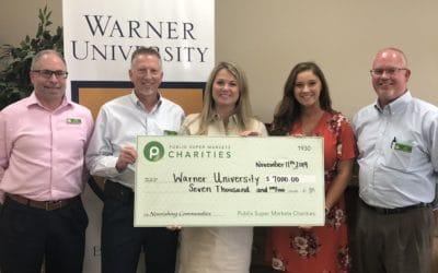 Warner Receives Scholarship Grant from Publix Charities