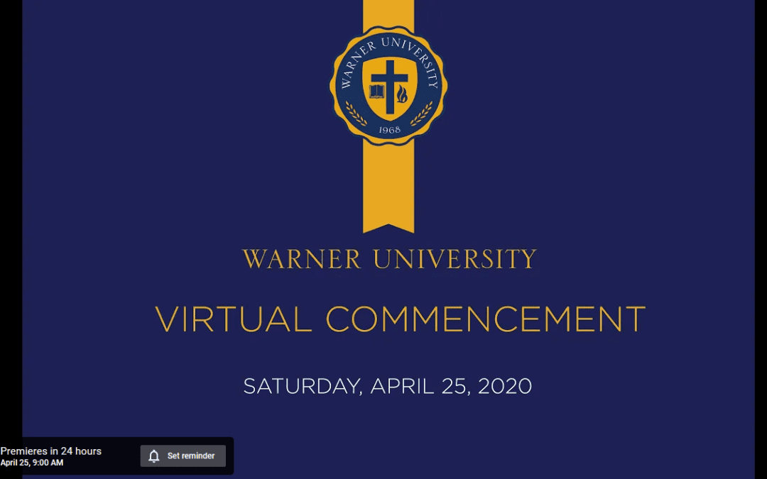 Warner's 2020 Virtual Commencement Ceremony