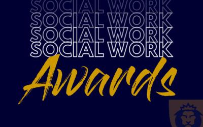 Social Work Awards for Warner Student and Professor