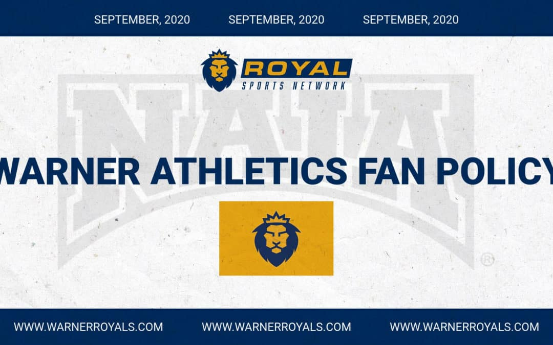 Warner University Athletics October Fan Policy