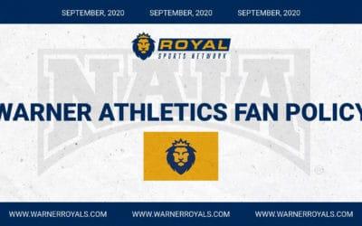 BREAKING – Warner University September Fan Policy
